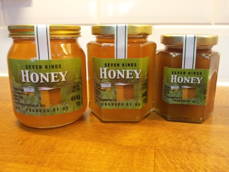 From left: 1lb, 12oz and 8oz jars (454g, 340g and 227g)